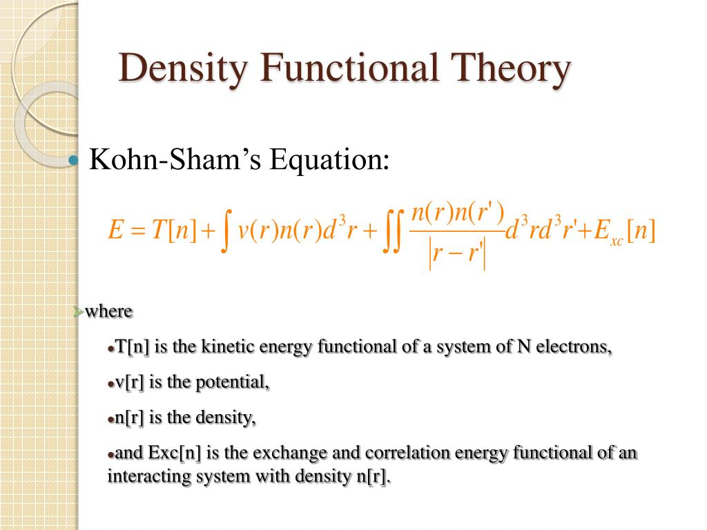 PPT - Calculation for XANES and XAFS: Part II  Density