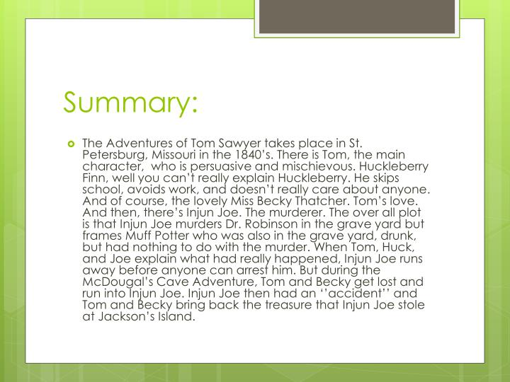 tom sawyer synopsis