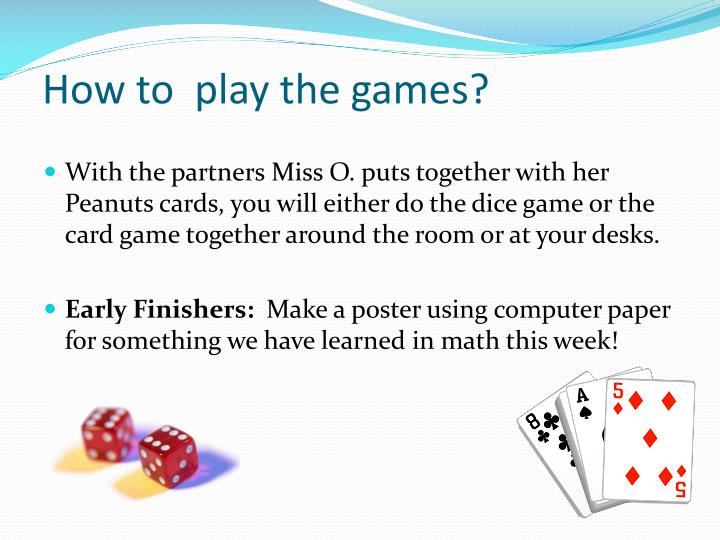 How to  play the games?