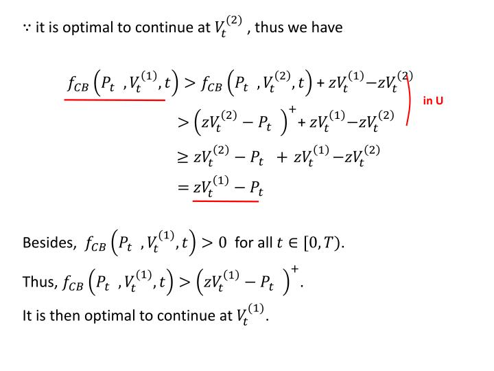 it is optimal to continue at