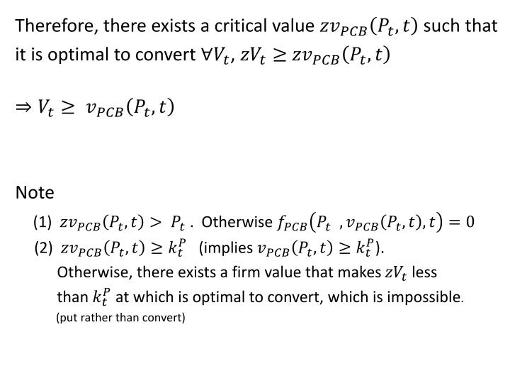 Therefore, there exists a critical value