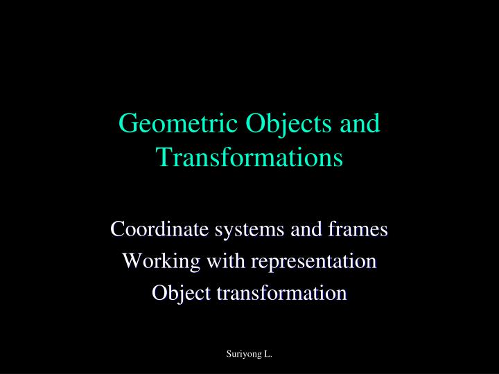 geometric objects and transformations n.