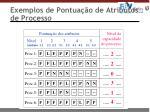 exemplos de pontua o de atributos de processo