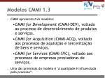 modelos cmmi 1 3