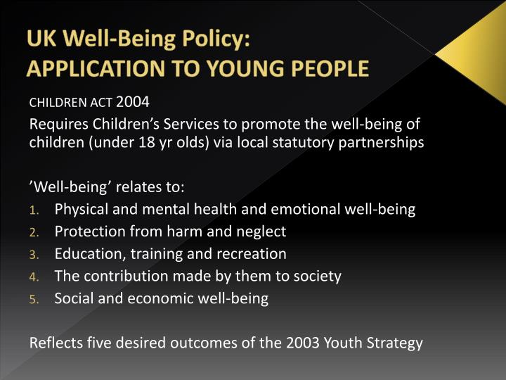 UK Well-Being Policy: