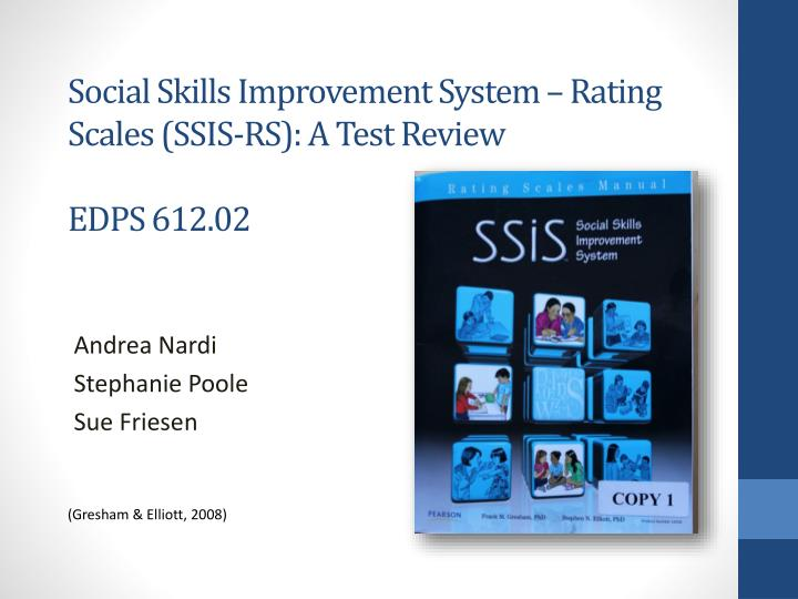 social skills improvement system rating scales ssis rs a test review edps 612 02 n.