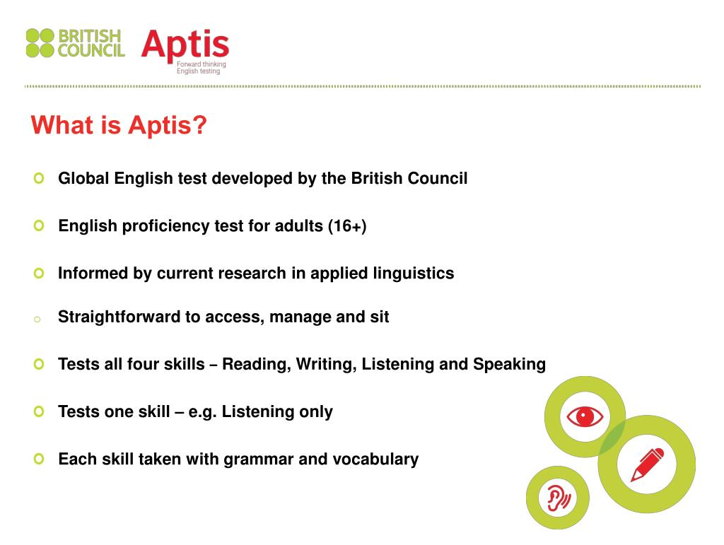 PPT - Global English test developed by the British Council English