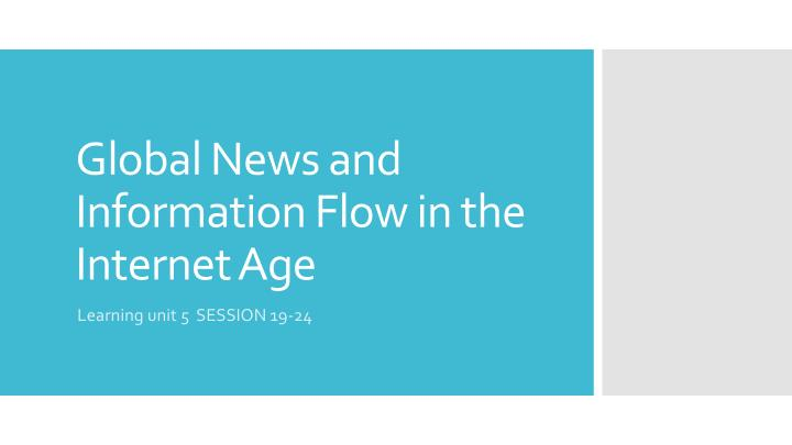 global news and information flow in the internet age n.