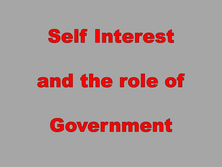 liberalism and the role of the government