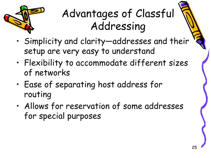 Advantages of Classful Addressing