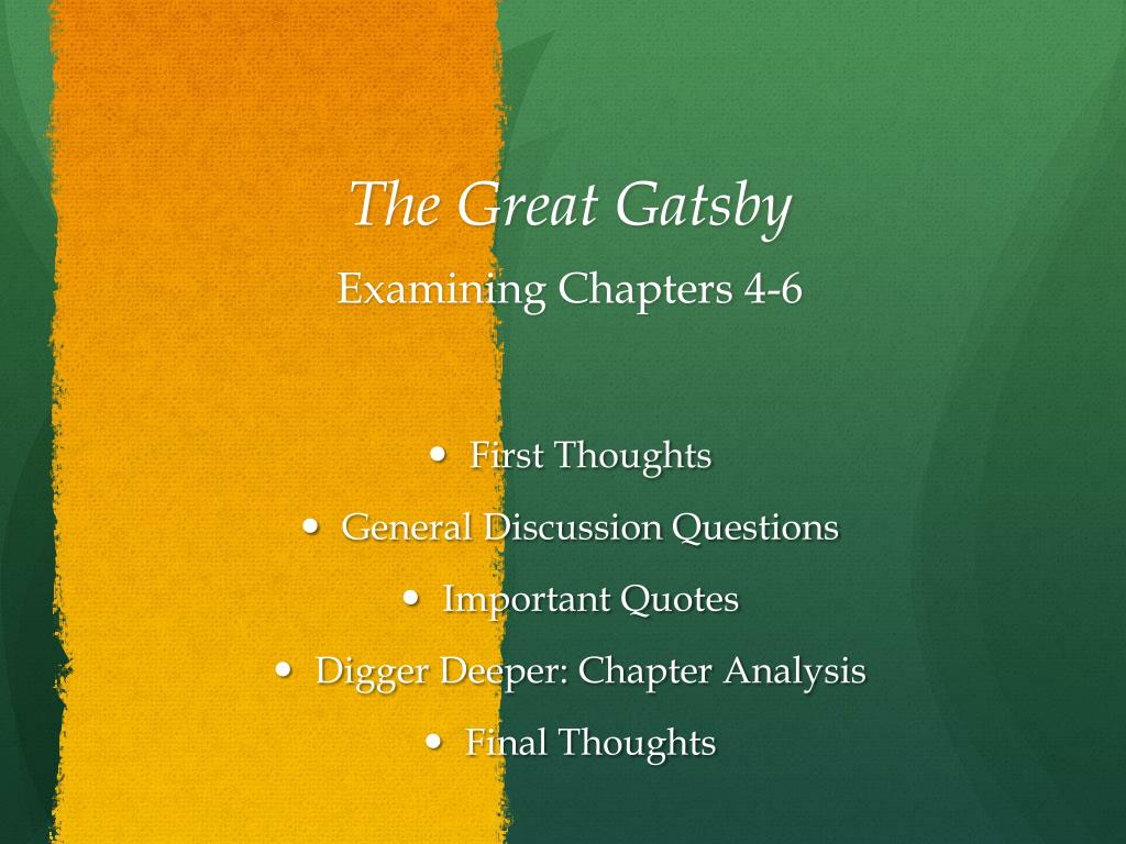 Ppt The Great Gatsby Powerpoint Presentation Id2583939
