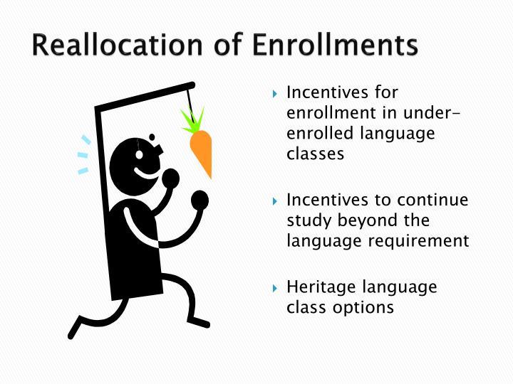 Reallocation of Enrollments