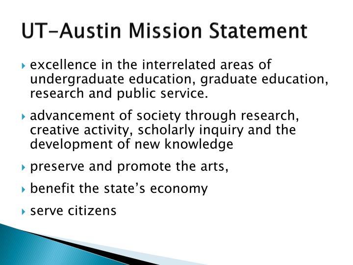 Ut austin mission statement