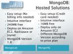 mongodb hosted solutions