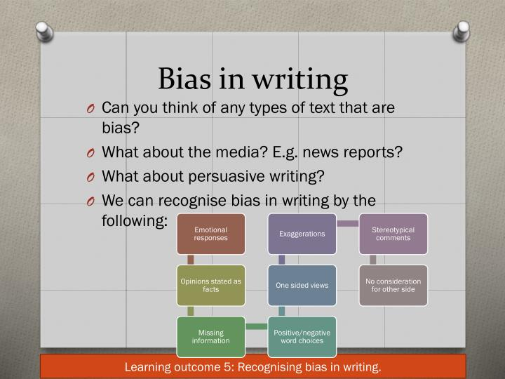 how to avoid bias in writing