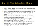 part iii the beholder s share2