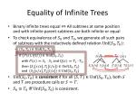 equality of infinite trees1