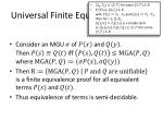 universal finite equivalence proofs