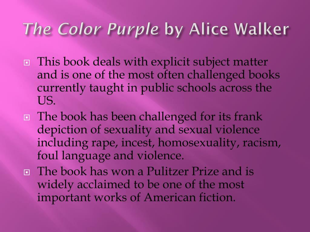 PPT - The Color Purple by Alice Walker PowerPoint Presentation - ID ...