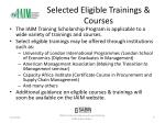selected eligible trainings courses