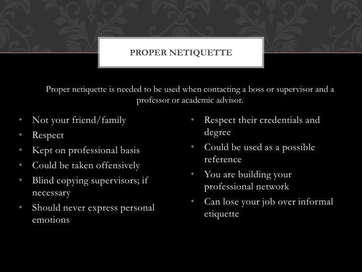 Proper netiquette1
