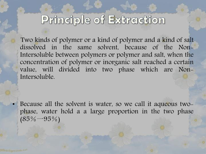 Principle of Extraction