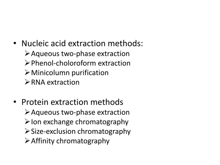 Nucleic acid extraction methods: