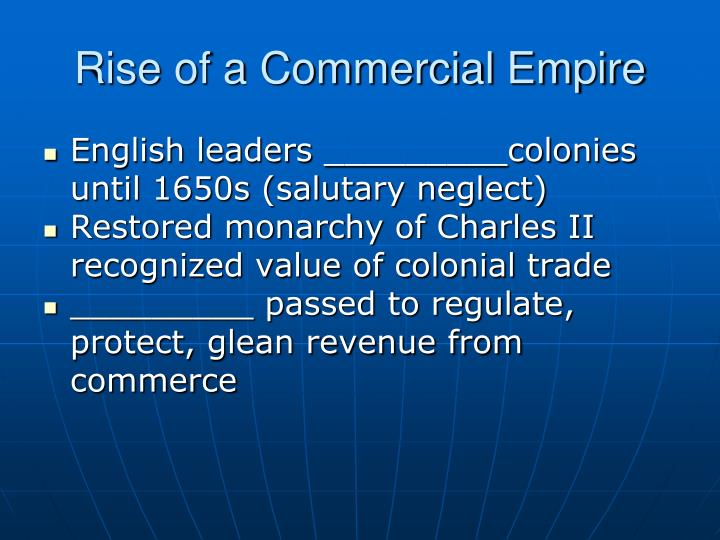 Rise of a Commercial Empire