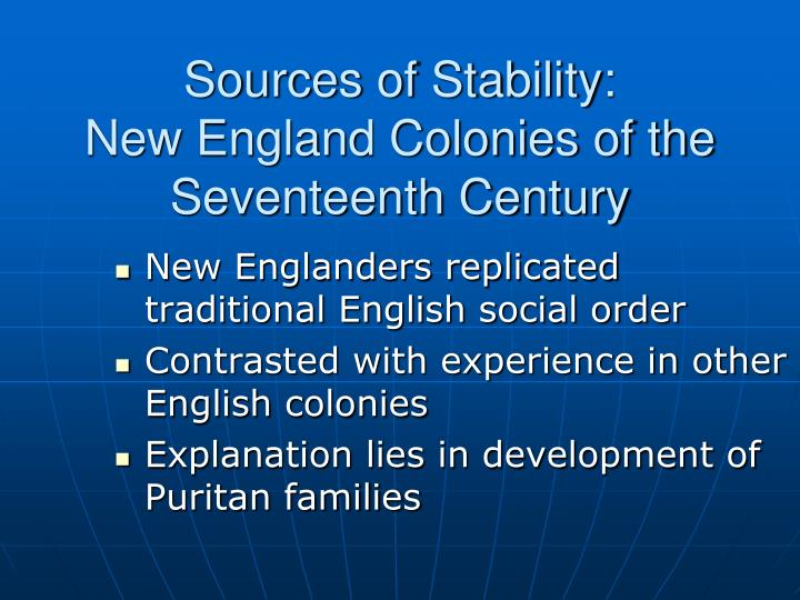Sources of Stability: