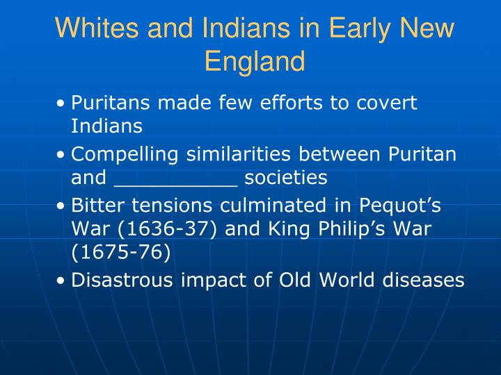 Whites and Indians in Early New England