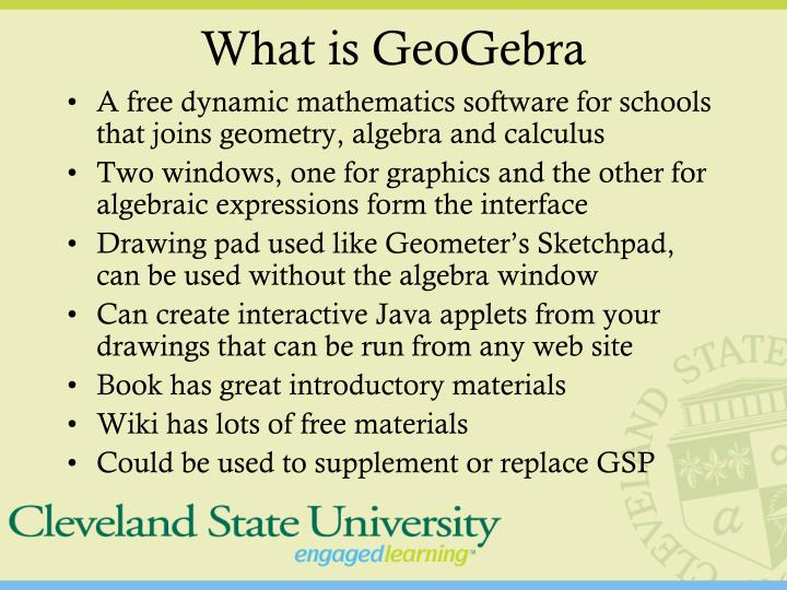 What is geogebra