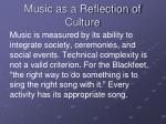music as a reflection of culture
