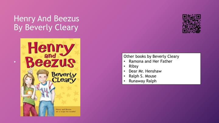 henry and beezus by beverly cleary n.
