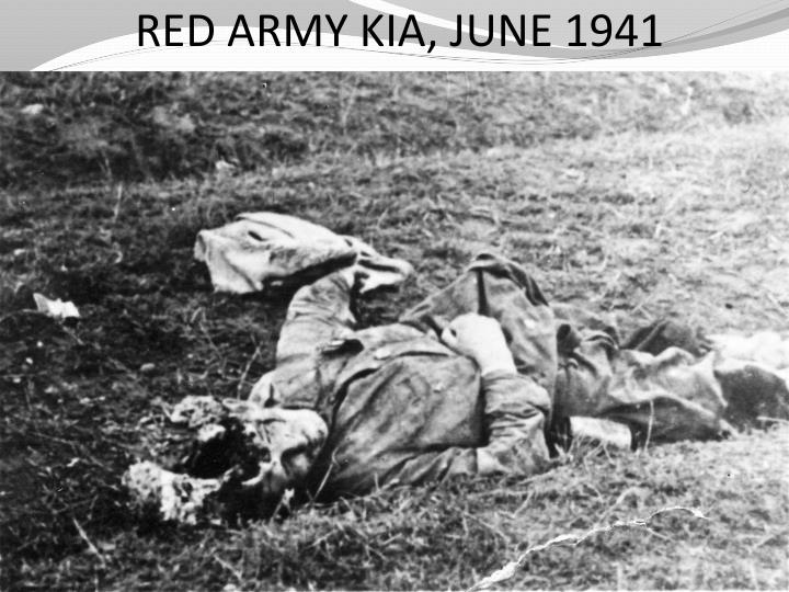 RED ARMY KIA, JUNE 1941