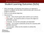 student learning outcomes slos