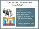 this means that there are intended effects