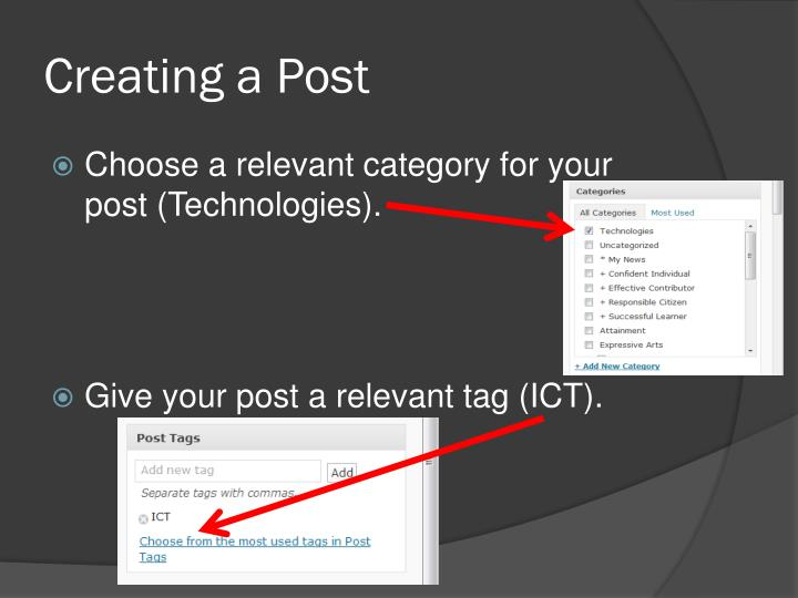 Creating a Post