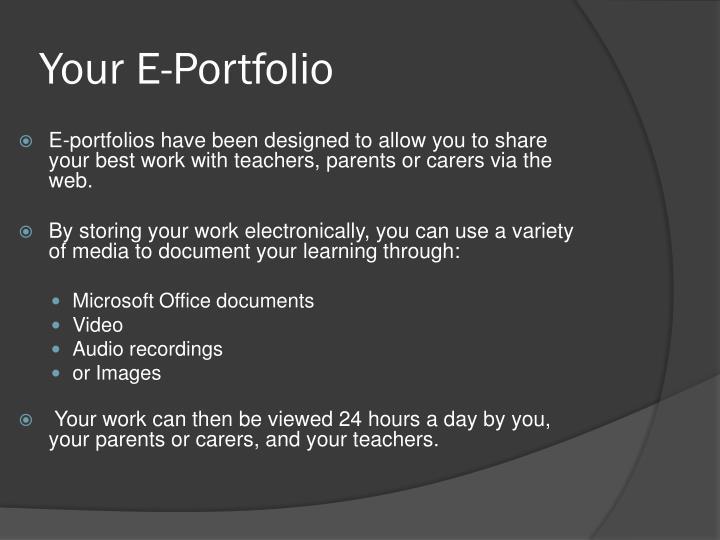 Your e portfolio