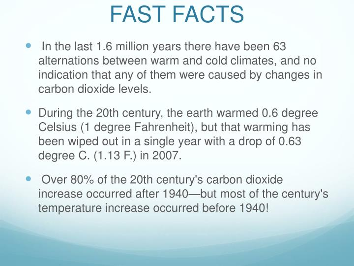 fast facts n.