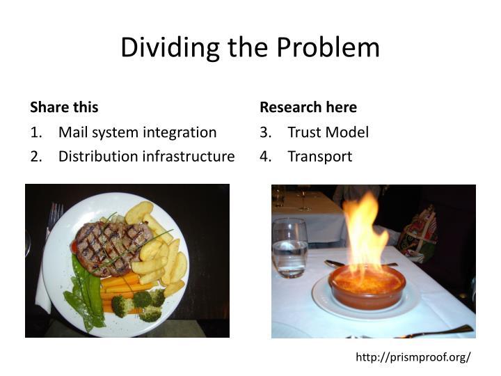 Dividing the Problem