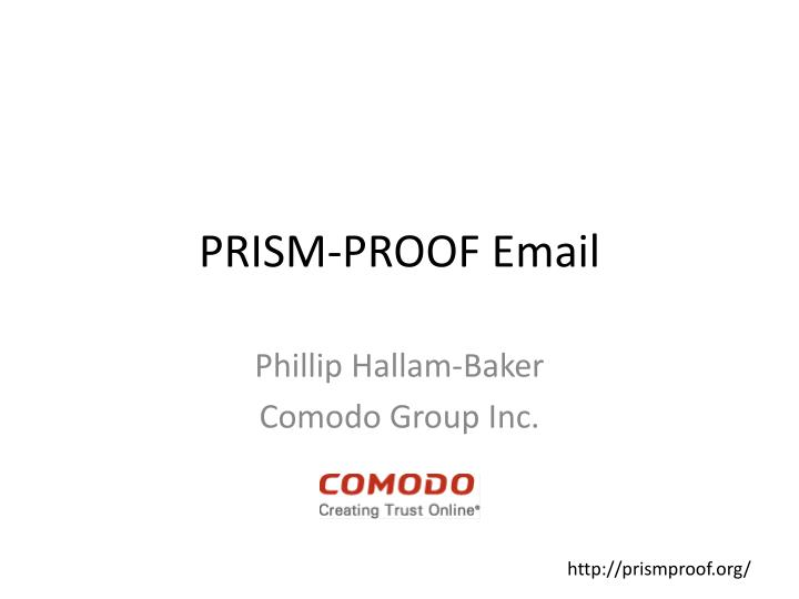 Prism proof email