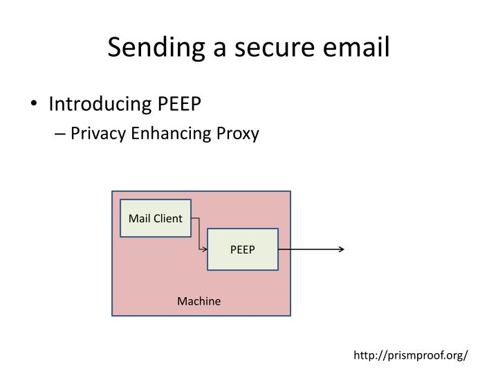 Sending a secure email
