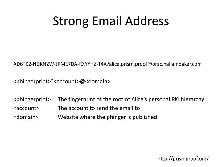 Strong Email Address