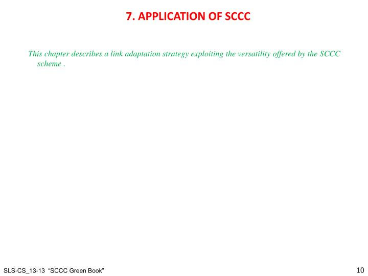 7. APPLICATION OF