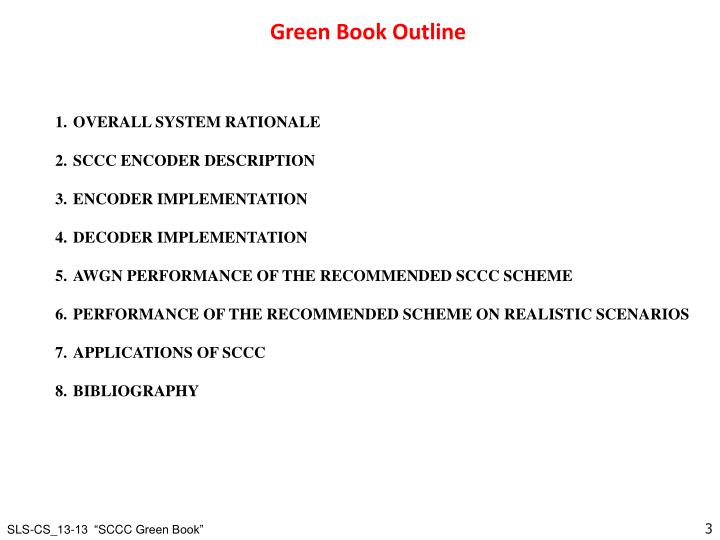 Green Book Outline