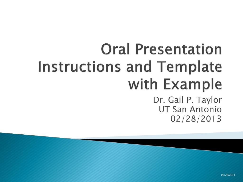 ppt oral presentation instructions and template with example