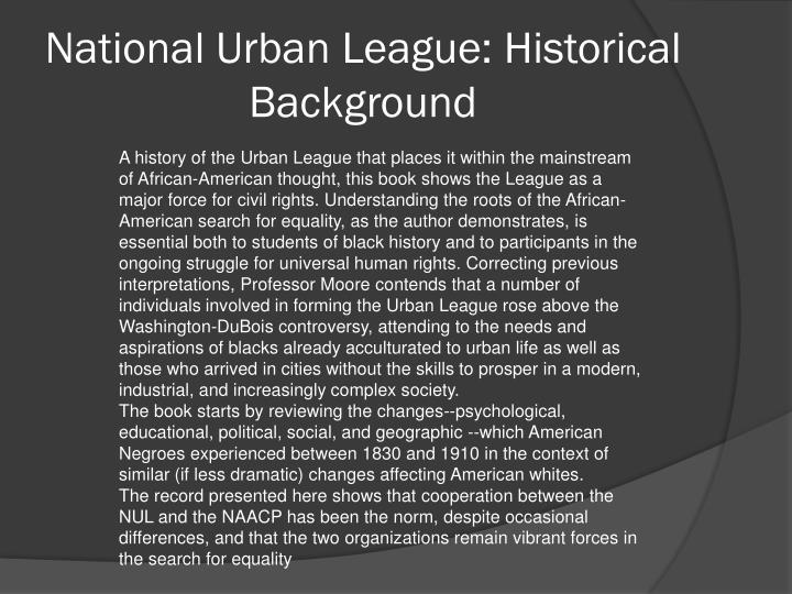 National Urban League: Historical Background