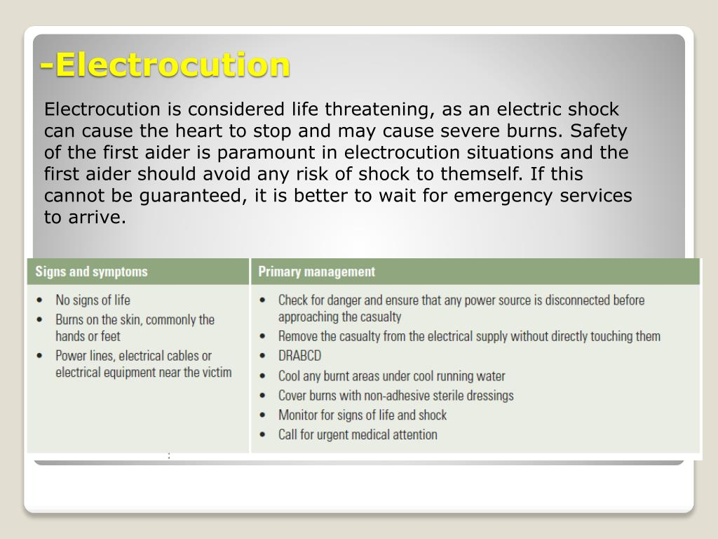 PPT - Management of Injuries PowerPoint Presentation - ID