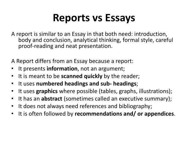 PPT - Report Writing With a specific focus on the Report on ...