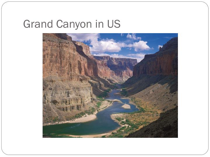 Grand Canyon in US